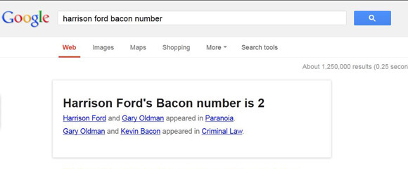 Google Bacon Number